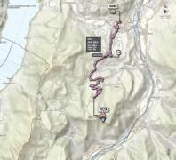 Giro d'Italia stage 18 map