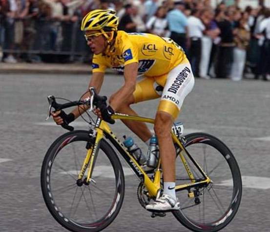 Alberto Contador at 2007 Tour de France