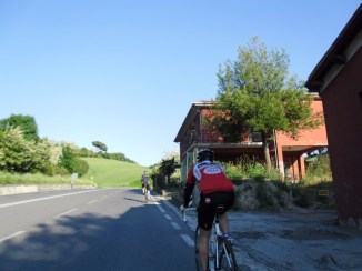 Cycling Tour in Italy, road to Pesaro, beautiful scenery
