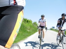 Cycling Tour in Italy, 2nd day, two Swiss cyclists