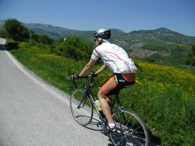 Cycling Tour in Italy, 2nd day, climbing
