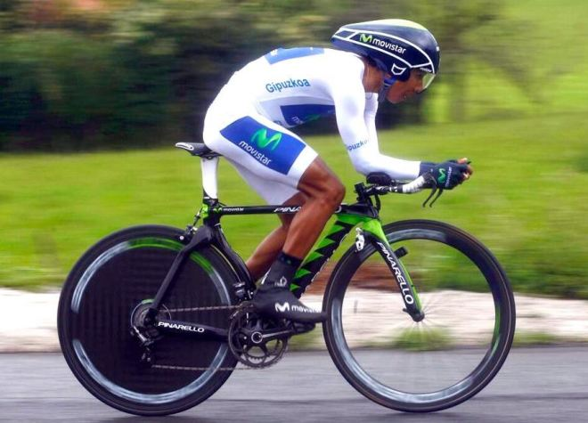 Nairo Quintana time trialing at Vuelta al Pais Vasco 2013