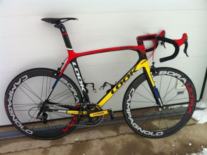 LOOK Mondrian (695) equipped with Super Record