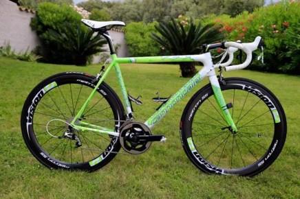 "Peter Sagan's Cannondale SuperSix Evo Tour de France 100th special edition ""The Hulk"""