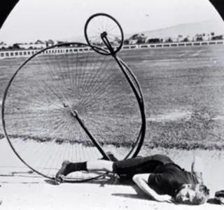 Penny-farthing crash