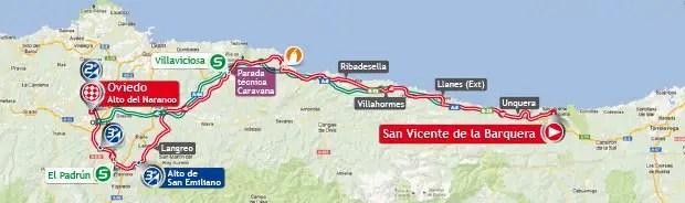 Vuelta a España 2013 stage 19 map