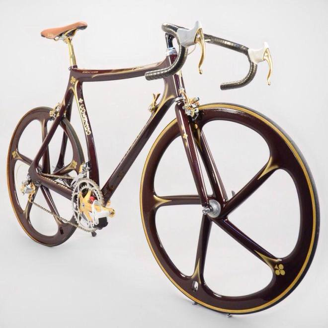 1989 Colnago C35 equipped with Campagnolo Super Record Gold - front view