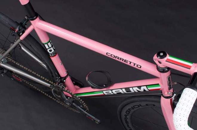 Baum Corretto with Campagnolo 80th Anniversary Groupset-from up