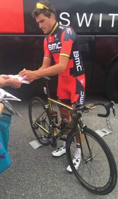 Greg Van Avermaet before the start of Bretagne Classic - Ouest-France