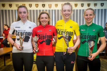 The winners of the QOM, Junior, Sprint and GC