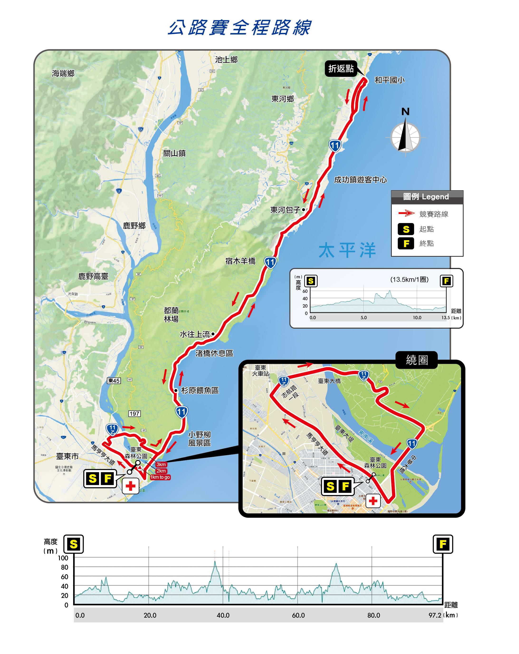 106競賽路線圖(公路賽全程)