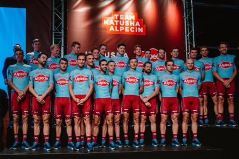 Resultado de imagem para katusha-alpecin 2019 foto da equipa