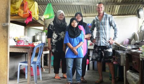 In the kitchen in Pahang Province