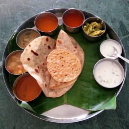 Moderate thali, great taste