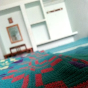 One of the cheapest rooms, yet most clean and ordered. At a local ashram.