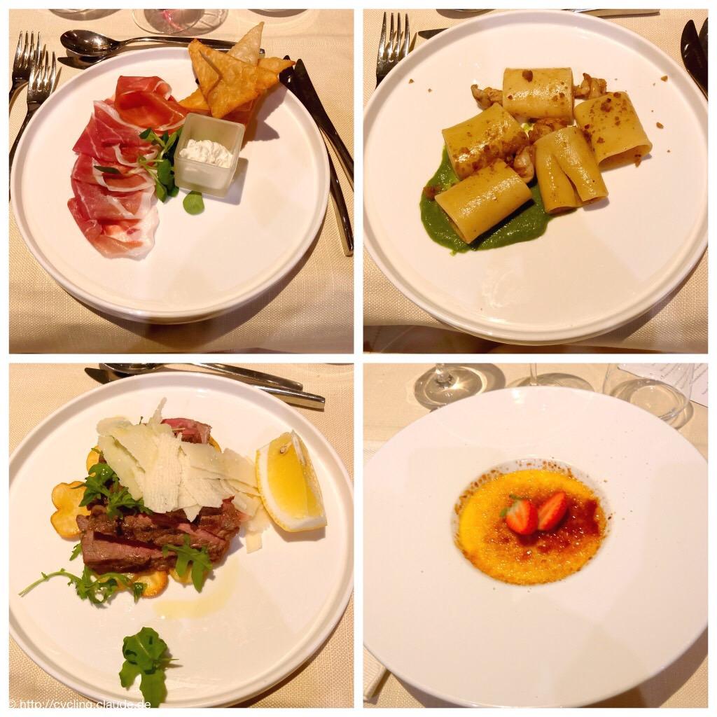 Abendessen im Hotel Melia