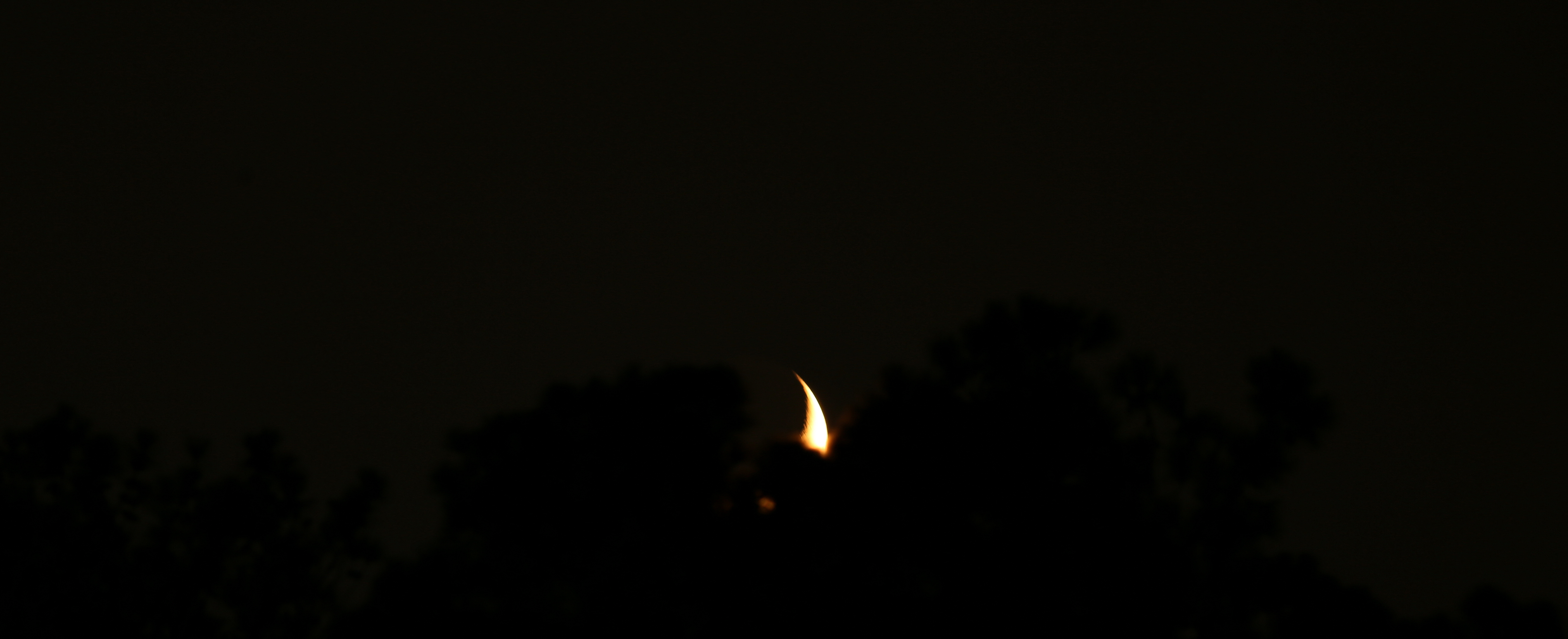 Photography ~ Practicing Moon Shots [Waxing Crescent] as It Sets, using my Canon EF 400mm f/5.6L USM Lens, 07/26