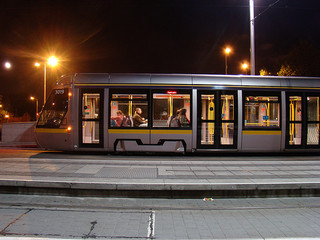 A Luas tram off-peak