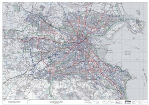 Dublin cycle network - metro area map