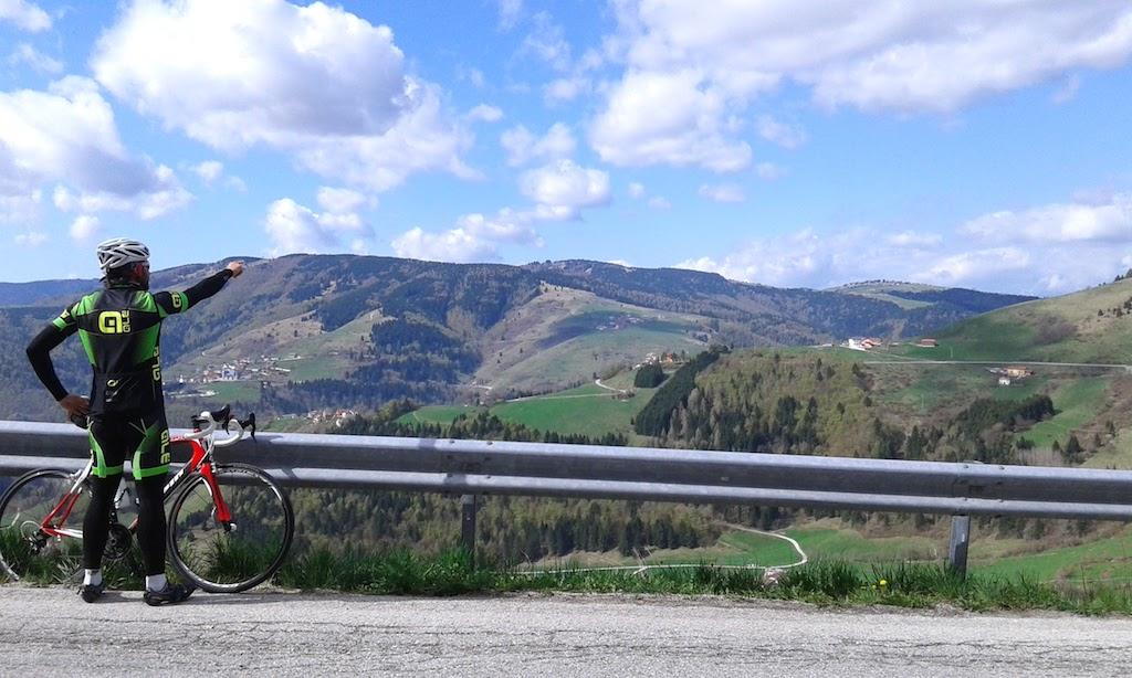 Salita di Enego (VI) in bicicletta: da Primolano (VI) all'Altopiano di Asiago