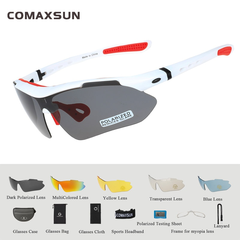 Polarized 5 Len Myopia Frame Cycling Glasses Outdoor Sports Bicycle Sunglasses