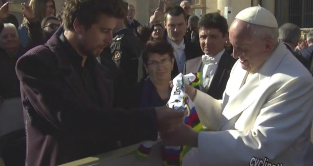 Sagan con Papa Francesco