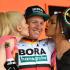 Pascal Ackermann sul palco del Giro d'Italia
