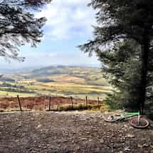 View from Coed Llandegla Mountain Bike Trail