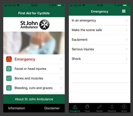 First Aid for Cyclists - Cycling App