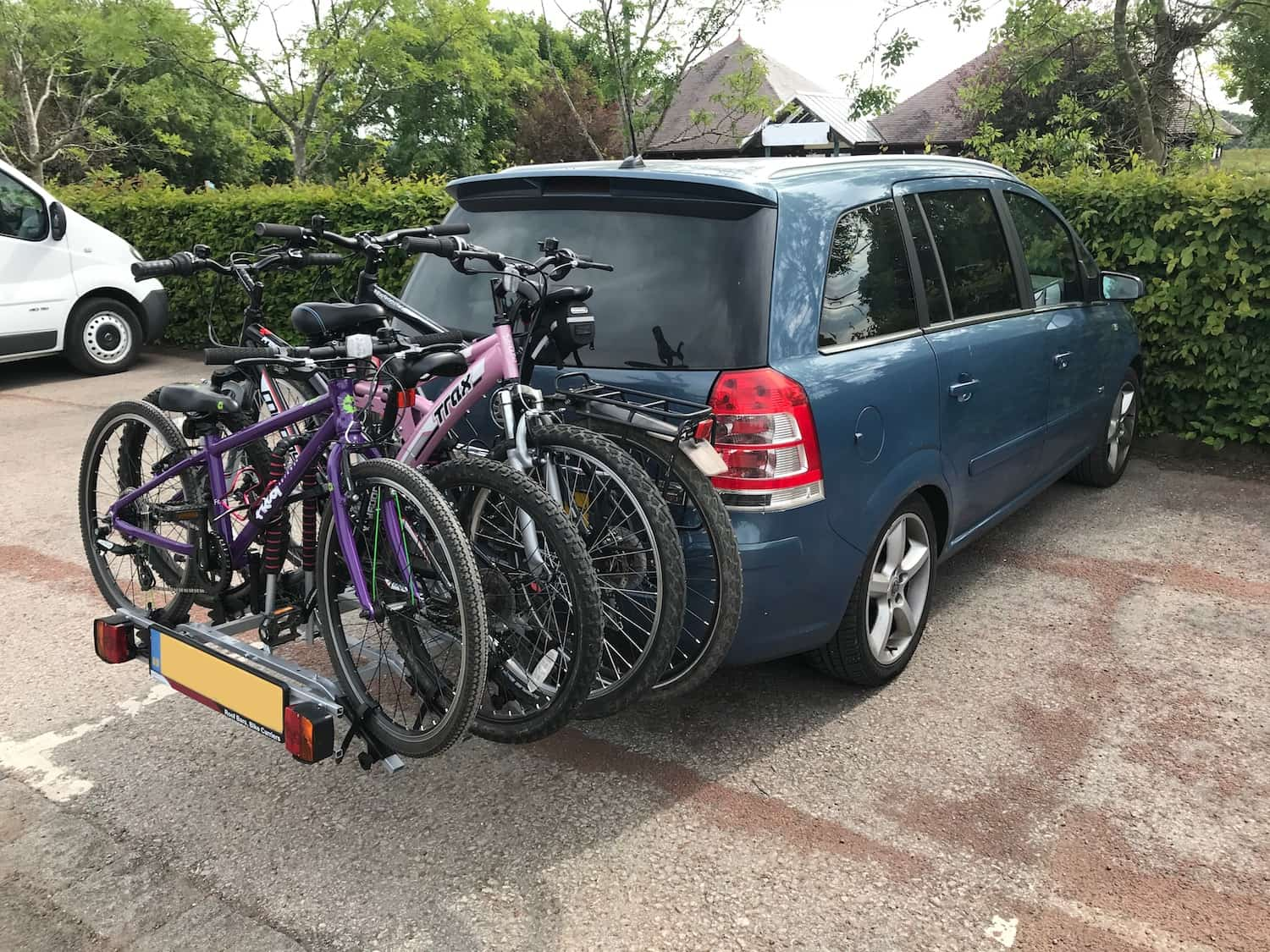 Transport Bike By Car - Towball Bicycle Rack Loaded