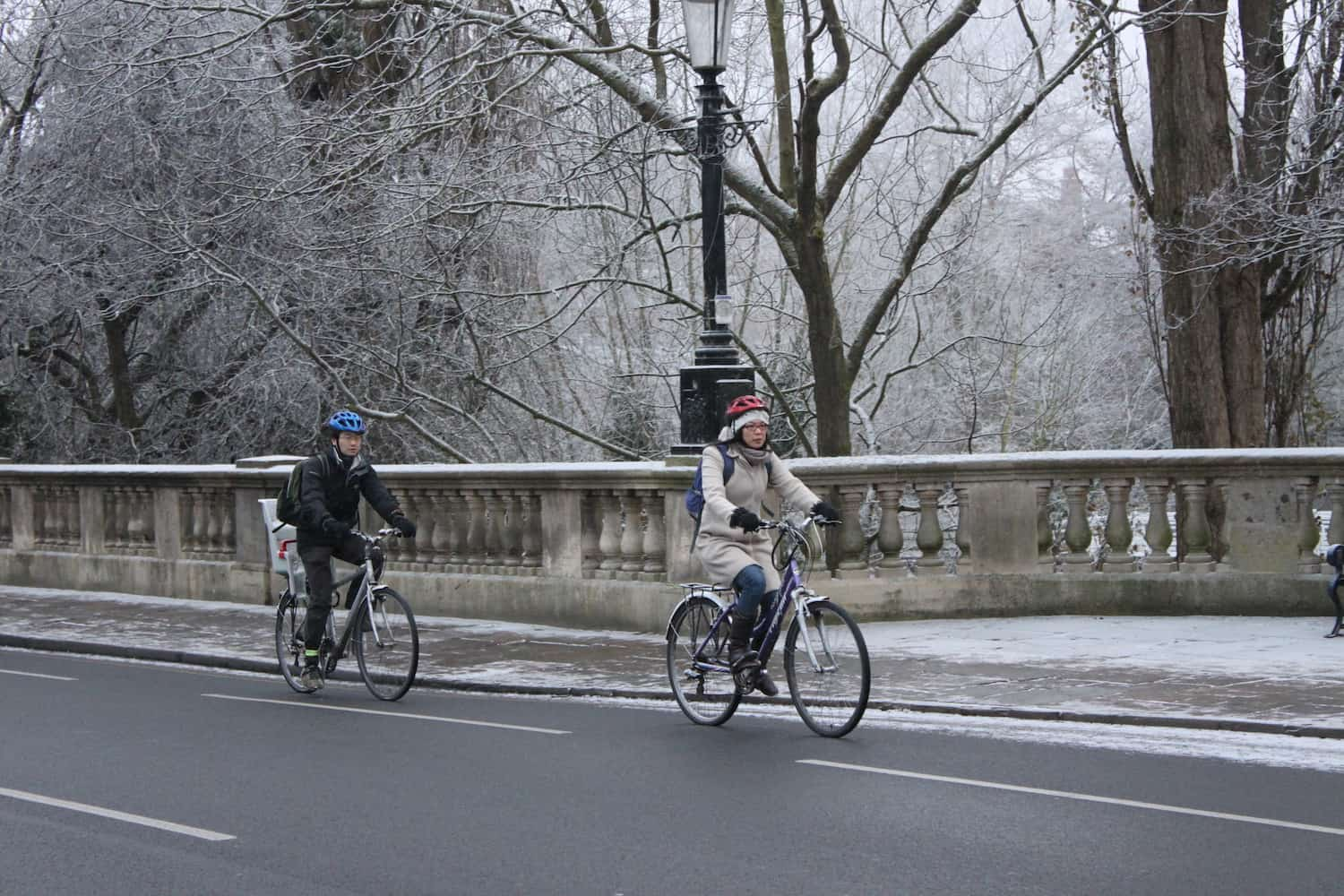 Cycling In Cold Weather - Winter