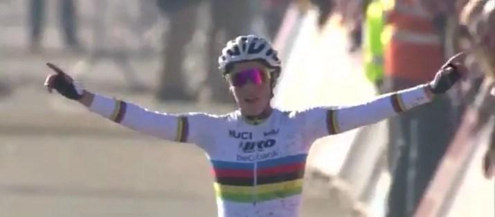 Sanne Cant - Victoire Cyclo-cross Superprestige Middelkerke