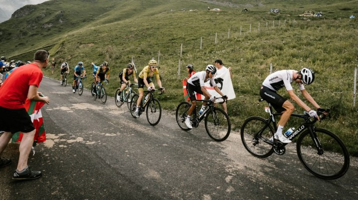 Peloton des favoris - Sky - 17e étape Tour de France 2018