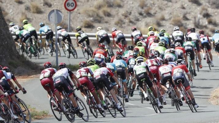 Peloton Descente - 6e étape Tour d'Espagne 2018