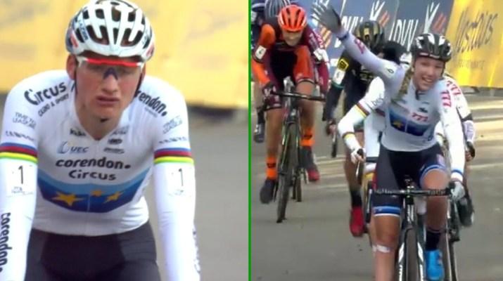 Montage - Mathieu Van der Poel - Annemarie Worst - Cyclo-cross Hamme 2018