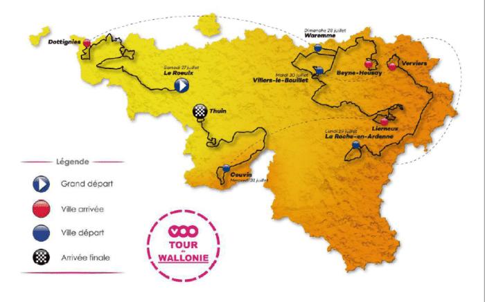 Tour de Wallonie 2019 - Carte générale