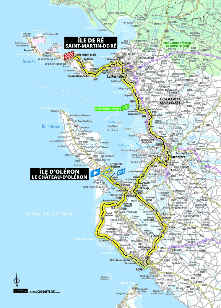 Carte - 10e étape - Tour de France 2020 - ASO/Geoatlas