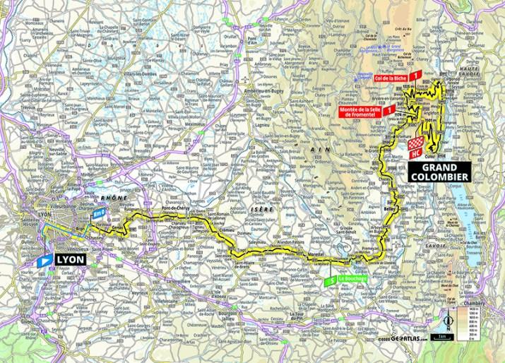 Carte - 15e étape - Tour de France 2020 - ASO/Geoatlas