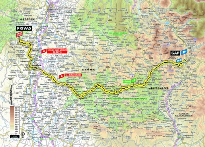 Carte - 5e étape - Tour de France 2020 - ASO/Geoatlas