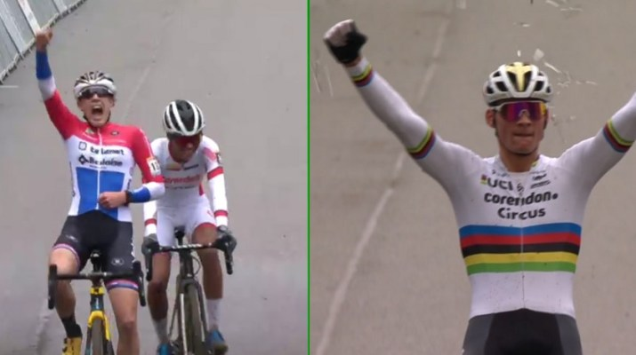 Lucinda Brand - Mathieu Van der Poel - Vainqueurs Cyclo-cross Heusden-Zolder 2019