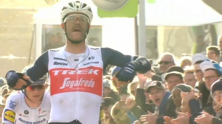 Jasper Stuyven - Vainqueur Circuit Het Nieuwsblad 2020 - Capture VRT