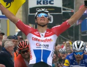 Mathieu Van der Poel - Vainqueur Flèche Brabançonne 2019 - Capture VRT