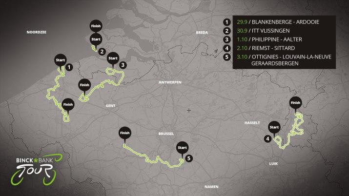 Carte générale - Binck Bank Tour 2020
