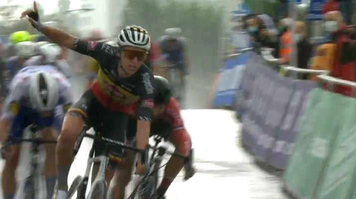Tim Merlier - Vainqueur Brussels Cycling Classic 2020 - Capture VRT