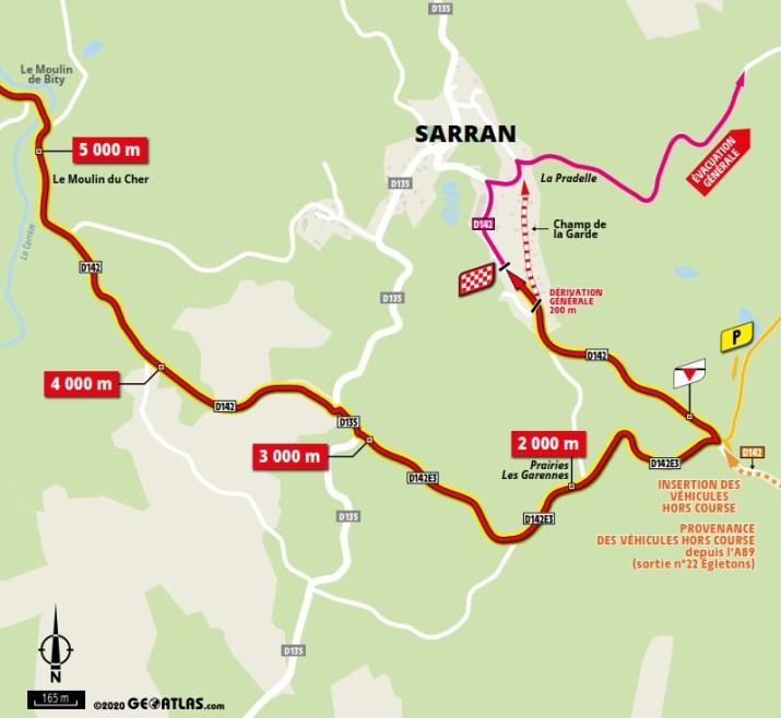 Carte du final - 12e étape - Tour de France 2020