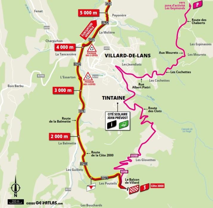 Carte du final - 16e étape - Tour de France 2020