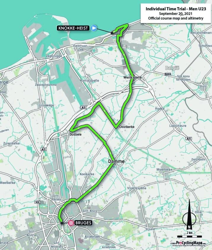 Championnats du monde sur route 2021 - Parcours Contre-la-montre Espoirs