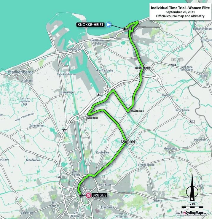 Championnats du monde sur route 2021 - Parcours Contre-la-montre Femmes