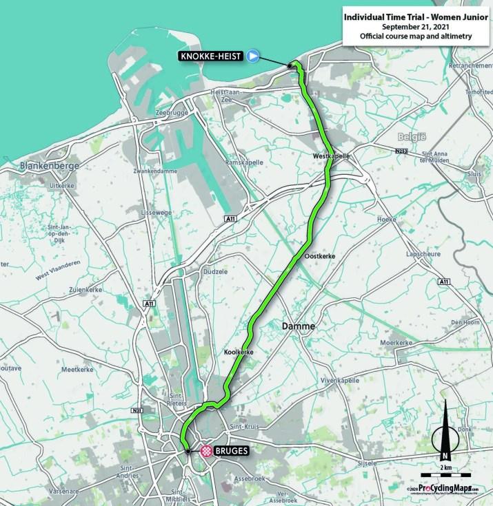 Championnats du monde sur route 2021 - Parcours Contre-la-montre Juniors femmes