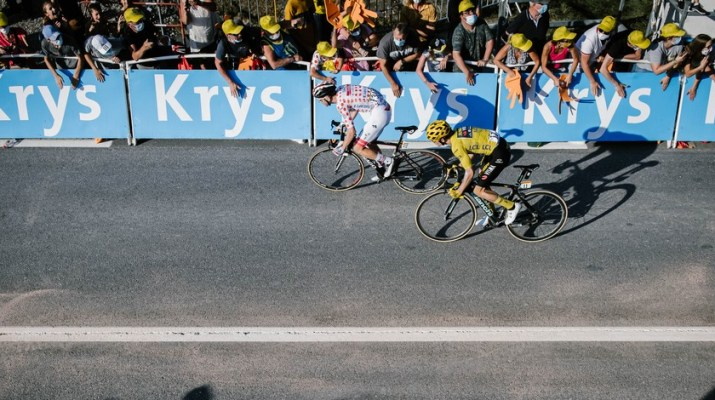 Tadej Pogacar Primoz Roglic - Sprint 18e étape Tour de France 2020 - ASO Pauline Ballet